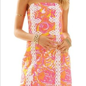 LILLY PULITZER Barely Worn Tansy Strapless Dress!